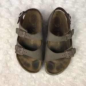 Birkenstock Kid's Sandals Brown Size 32 1-1.5